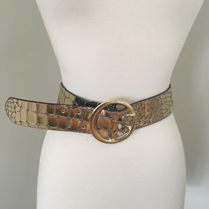 Free People Gold Belt Size Small